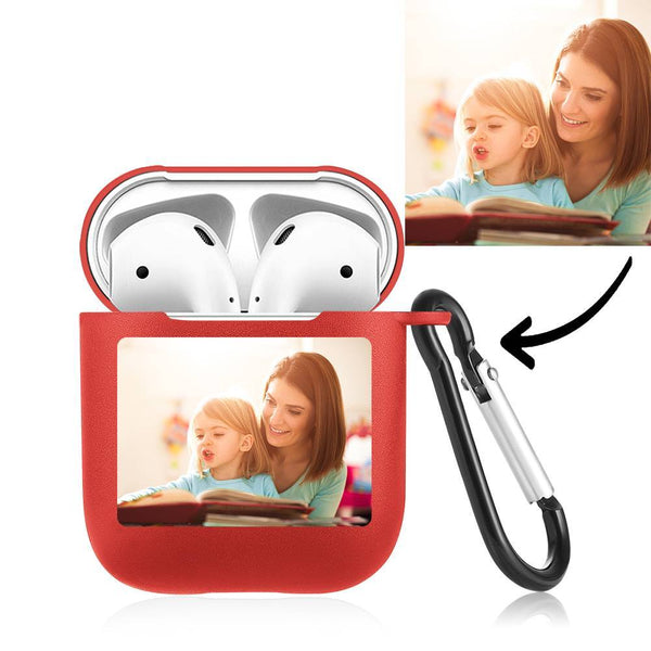 Custom Photo Airpods Case Earphone Case Red