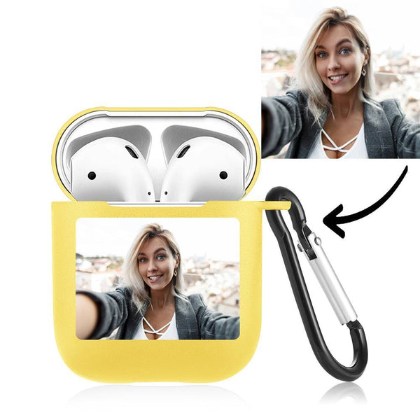 Custom Photo Airpods Case Earphone Case Yellow