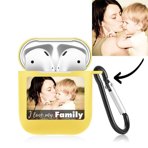 Custom Photo Airpods Case Earphone Case Yellow Couple's Keepsake Gift - Avatar