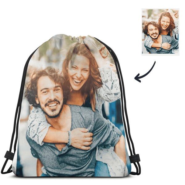 Custom Drawstring Bags with Photo Anniversary Gift
