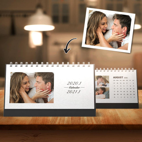Custom Classic Photo Desk Calendars Memory Gift