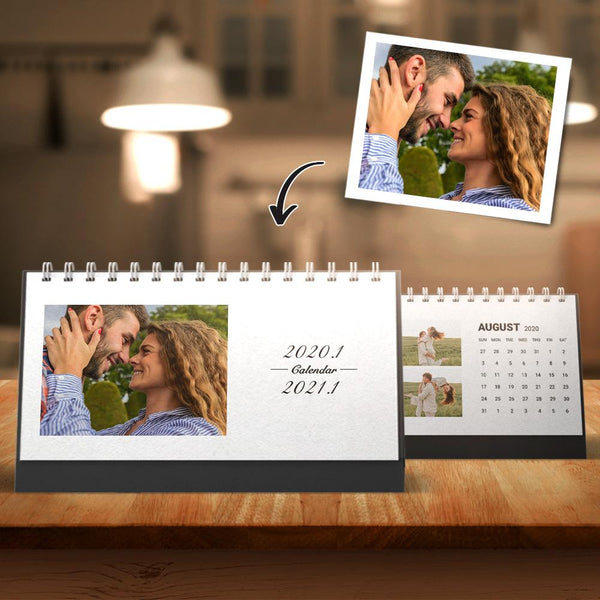 Personalized Classic Photo Desk Month Calendars 6*11inch