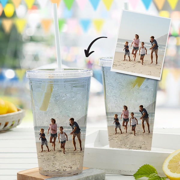 Custom Photo Sippy Cup For Custom Plastic Water Cup For Unisex Cup