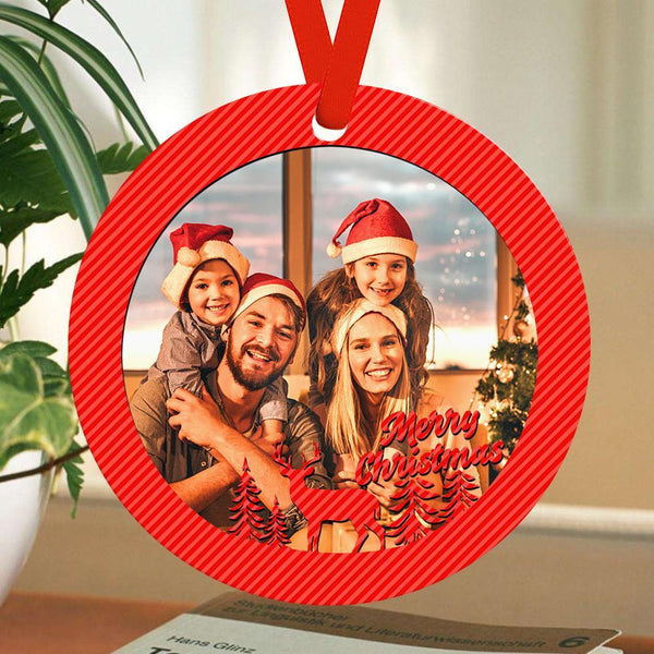 Custom Photo Ornaments Christmas Tree Gifts For Family