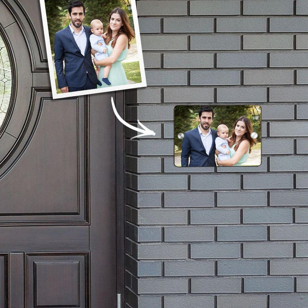 Custom Photo Door Signs Personalized Door Plates Square - Family