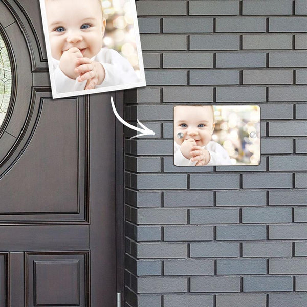 Custom Photo Door Signs Personalized Door Plates Square - Baby