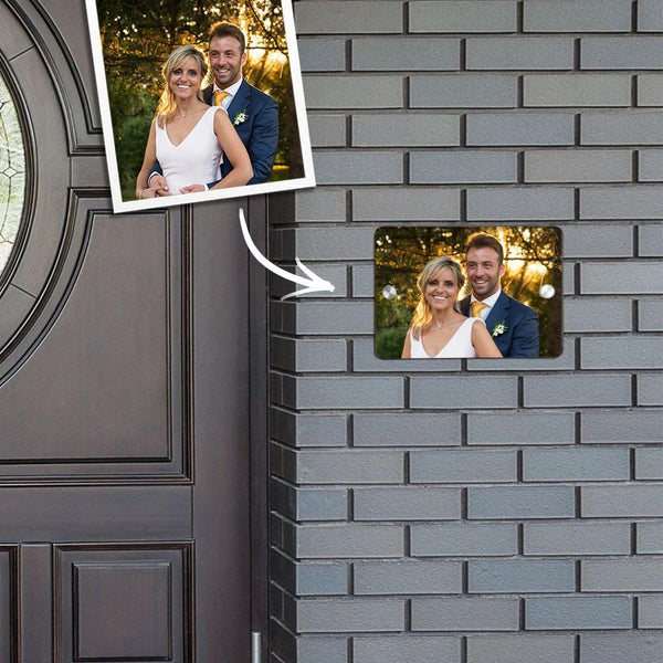 Custom Photo Door Signs Personalized Door Plates Square - Forever Love