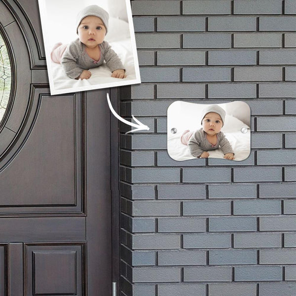 Custom Photo Door Signs Personalized Door Plates Pillow Shaped - Baby Creative Gifts