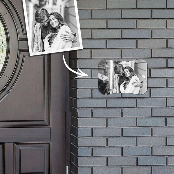 Custom Photo Door Signs Personalized Door Plates Pillow Shaped - Love Gifts for Her