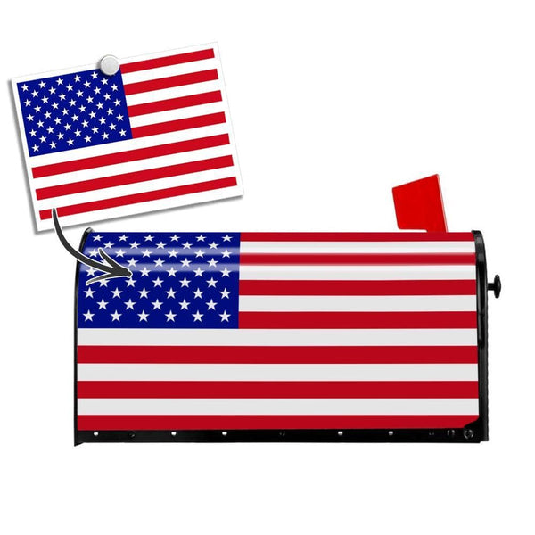 Custom Photo Mail Box Cover American Flag PVC Cover