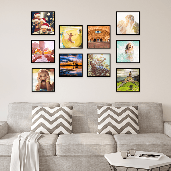 Personalized Photo Tiles Set Home Decor Wall Art