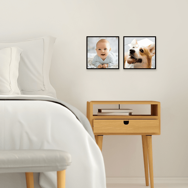 Personalized Photo Tiles Set Modern Wall Art Home Decor