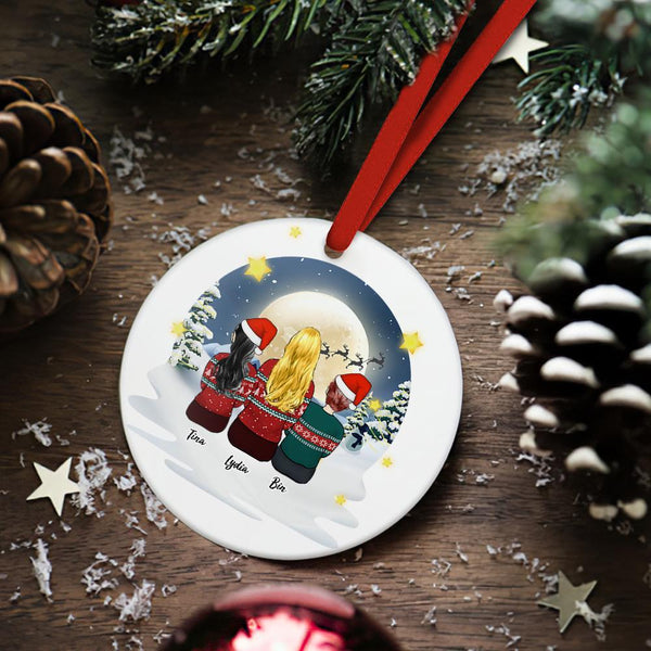 Custom Christmas Tree Decor Personalized Ceramics Engraved Ornament Christmas Gift For Friend