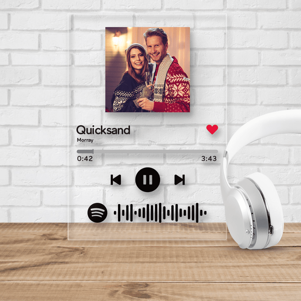 Custom Spotify Code Acrylic Glass Music Plaque