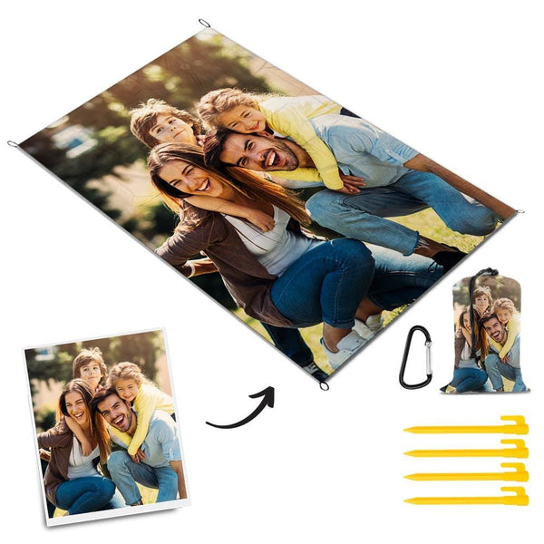 Custom Photo Picnic Blanket Outdoor Travel Mat Picnic Blanket