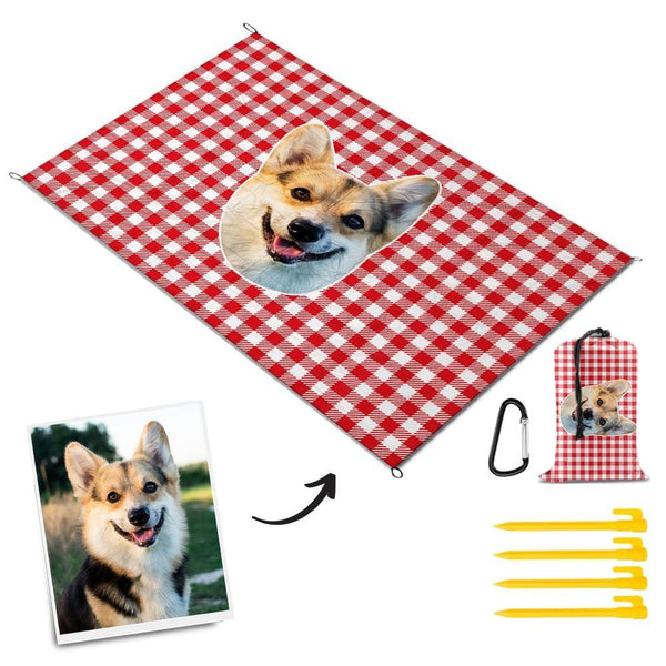 Custom Picnic Blanket Cute Dog Mat for Travel Picnic Mat