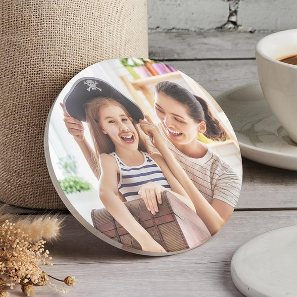 Custom Photo Coaster Round Coaster Gift for Mother