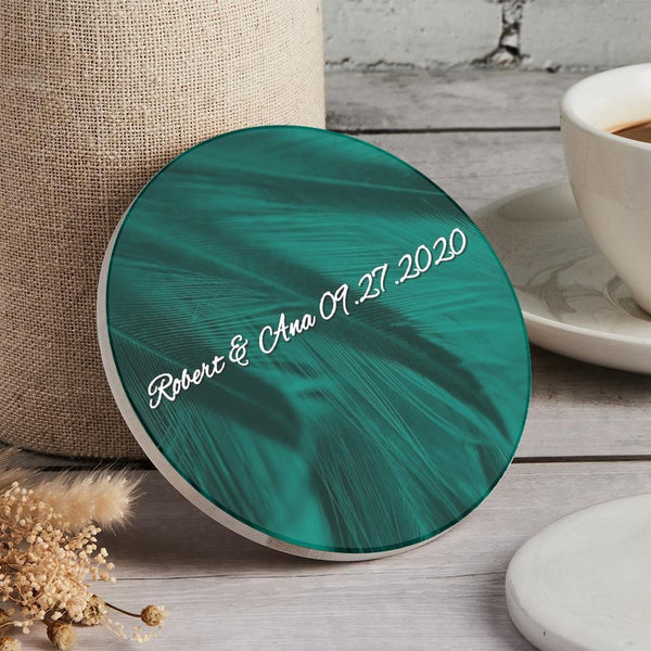 Custom Engraved Round Coaster Round for Home