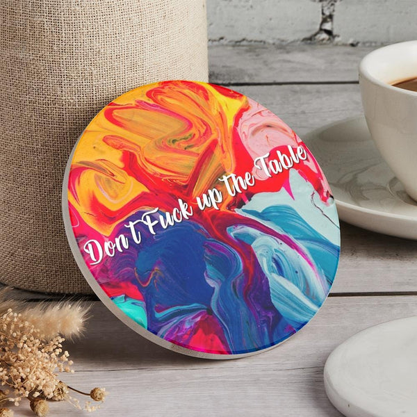 Custom Engraved Coaster Multicolor Round Coaster for Kitchen