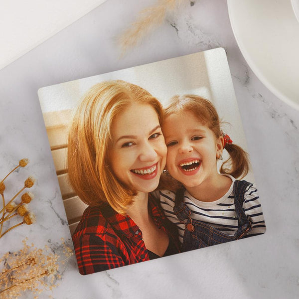 Custom Photo Coaster Square Coaster Gift for Mother