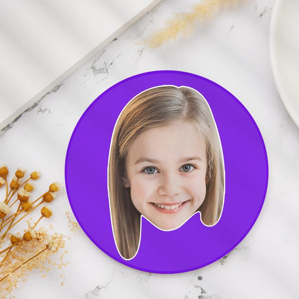 Custom Face Coaster Round Coaster for Kids