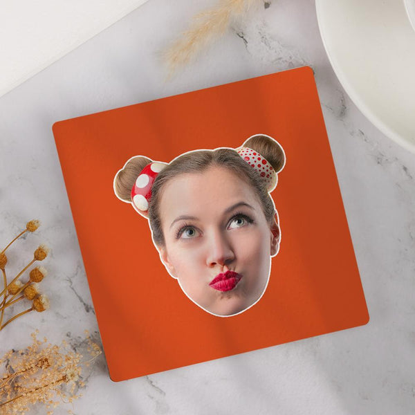 Custom Face Coaster Square Coaster Gift for Her