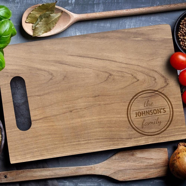 Personalized Cutting Board With Handle Unique Kitchen Gifts