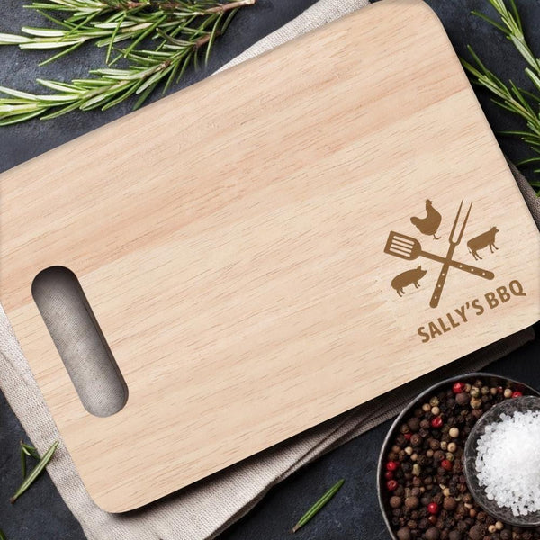 Custom Wood Cutting Board With Handle Cooking Gifts Kitchen Supplies