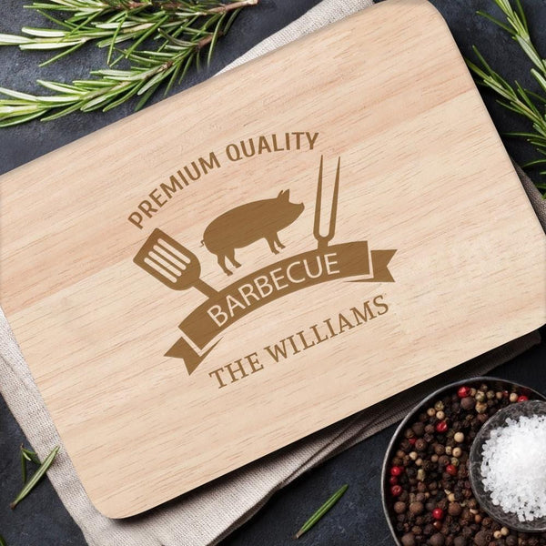 Personalized Wood Cutting Board No Handle Gifts for Kitchen