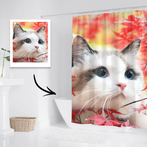 Personalized Shower Curtain Gifts for Cat Lover