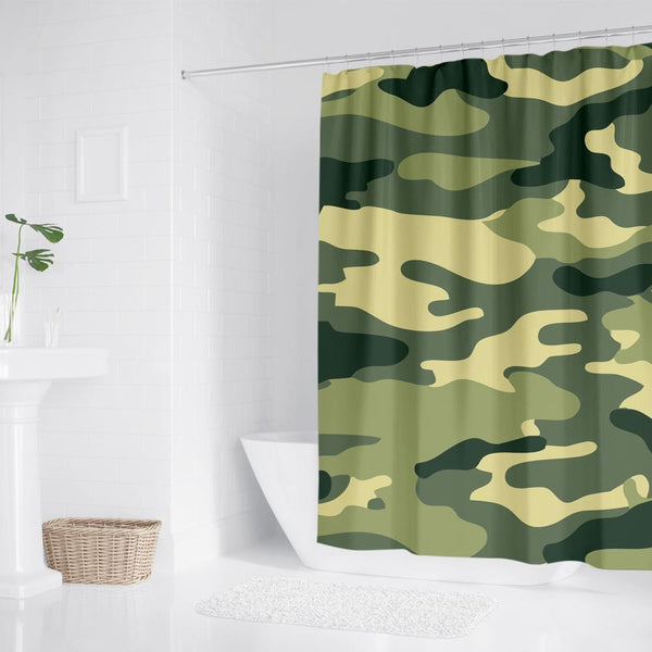 Bathroom Polyester Waterproof Shower Curtain Camouflage