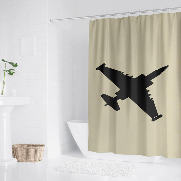Photo Waterproof Shower Curtain For Airplane