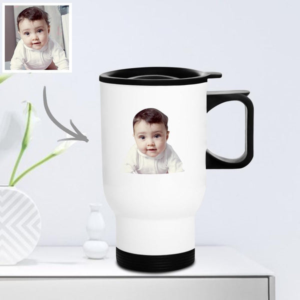Personalized Travel Mug with Lid Reusable 400ml - Kids Gifts