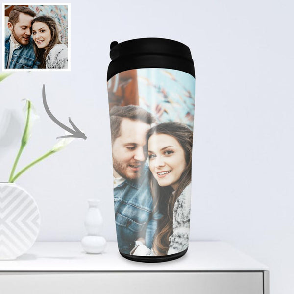 Custom Photo Coffee Cup Travel Mugs Portable Portable 350ml - for Couple