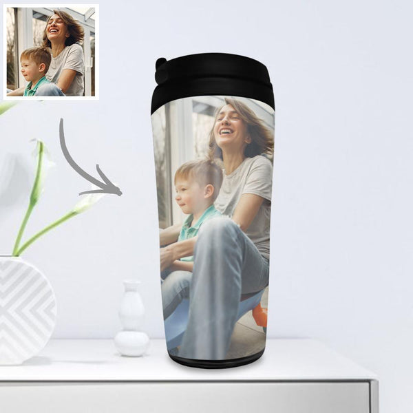 Custom Photo Coffee Cup Travel Mugs Portable 350ml - for Family