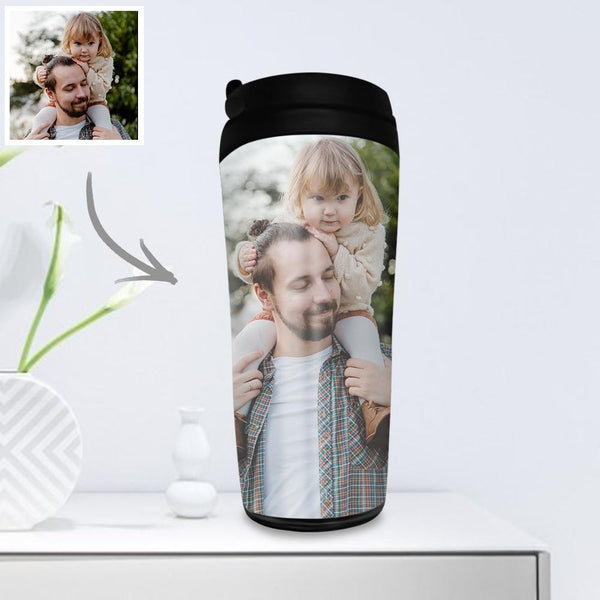 Custom Photo Coffee Cup Travel Mugs Portable 350ml - for Parents Dad & Mom