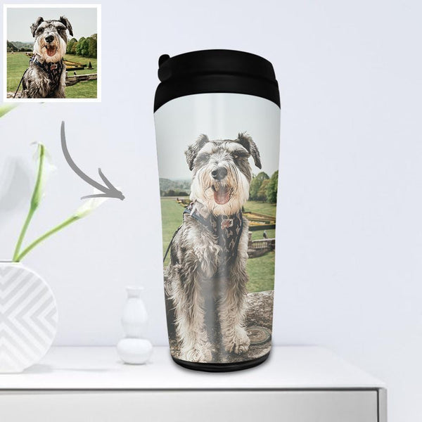 Custom Photo Coffee Cup Travel Mugs Portable 350ml - for Pet
