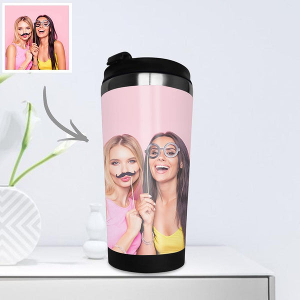 Personalized Coffee Cup Travel Mugs Portable Stainless Steel with Photo 400ml - Friends