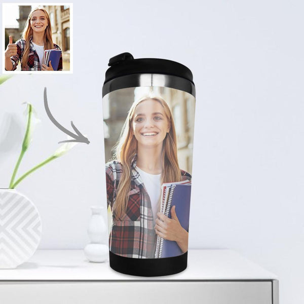 Personalized Coffee Cup Travel Mugs Portable Stainless Steel with Photo 400ml - Dear Teacher