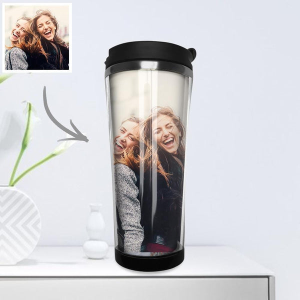 Custom Photo Coffee Cup Mini Travel Mugs Portable Stainless Steel 420ml - Dear Friends