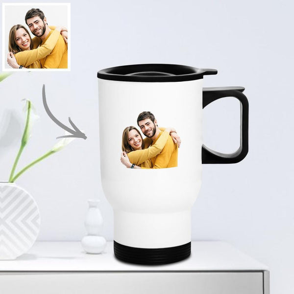 Personalized Travel Mug with Lid Reusable 400ml - Love You