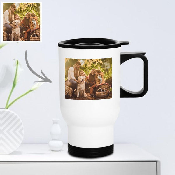 Personalized Travel Mug with Lid Reusable 400ml - Home Sweet Home