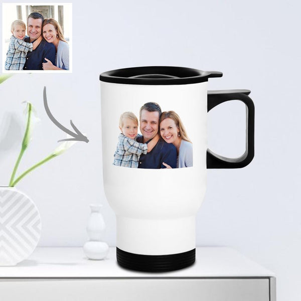 Personalized Travel Mug with Lid Reusable 400ml - Family Gifts
