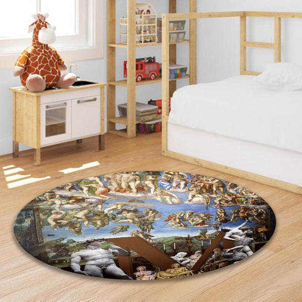 Round Carpet 60*60 cm Decor for Livingroom