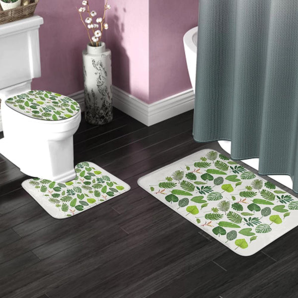 Three-piece Bathroom Toilet Pad Absorbent Non-slip Carpet 24*35inch