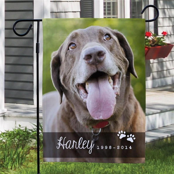 Personalized Photo Memorial Garden Flag