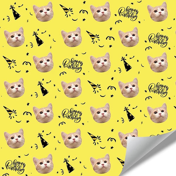 Custom Pet Gift Wrapping Paper for Birthday