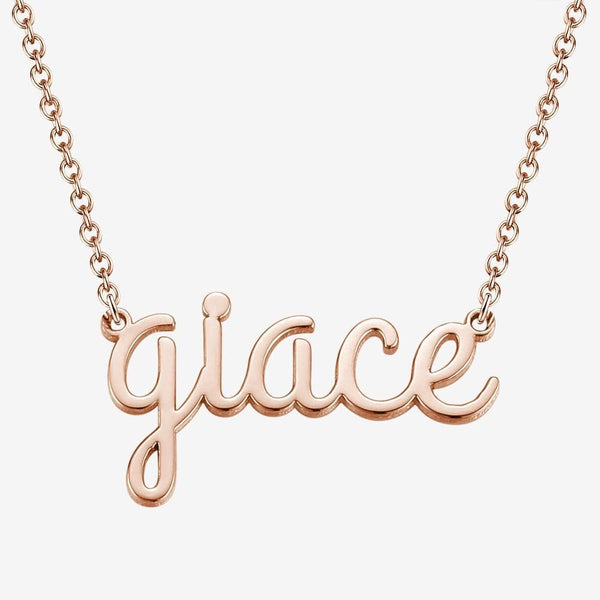 Custom Name Necklace Lowercase Letter Necklace
