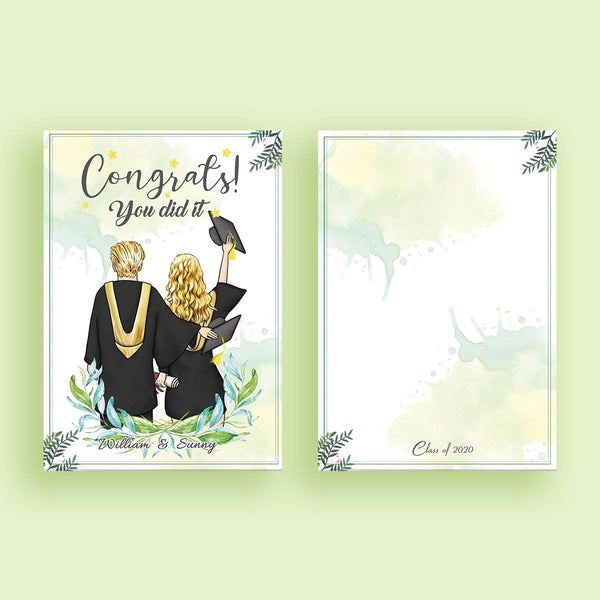 Graduation Gift Card Custom Gift Cards - Congrats You Did it