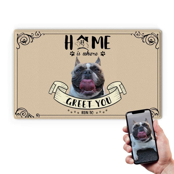 Custom Photo Doormat Home Door Mat for Pet Lover